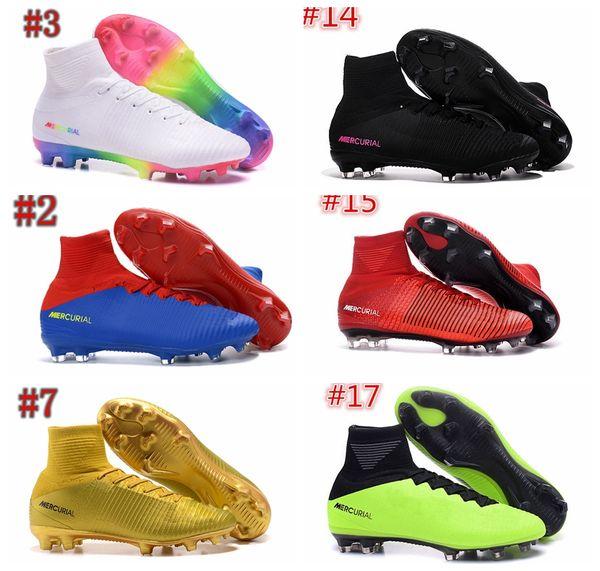 754790de72b7 Mens Mercurial Superfly CR7 V AG FG Football Boots Ronaldo High Ankle  Magista Obra II ACC