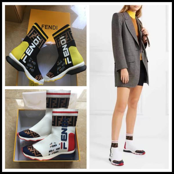 Tasarımcı Parlatıcı Gri Streç-Örgü Hız Eğitmen Rahat Ayakkabı Adam Kadın Ucuz Sneaker Yüksek Top Rahat Çizmeler Kırmızı Mix Siyah Boyutu 35-45