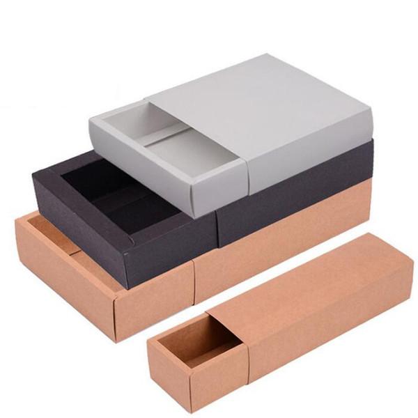 Kraft-Fach-Papierkasten für Gift \ Handmade Soap \ Crafts \ Jewelry \ Macarons Verpackung Verpackungspapier-Kästen 9 * 6 * 4 geben Verschiffen-Großverkauf QW7236 frei