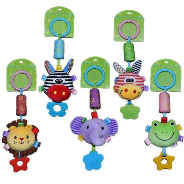 Infant Newborn Toddler Baby Kids Cute Animals Stroller Bed Around Hanging Bell Rattle Activity Soft Toys Sleep YH1545