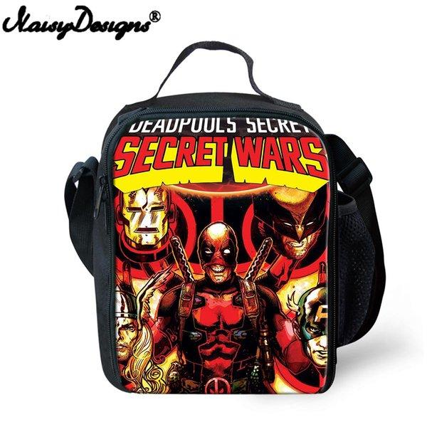 Compre Dos Desenhos Animados Deadpool Quadrinhos Superheros Crianças Lancheira Picnic Bag Bonito Crianças Almoço Sacos Térmica Isolamento Saco De
