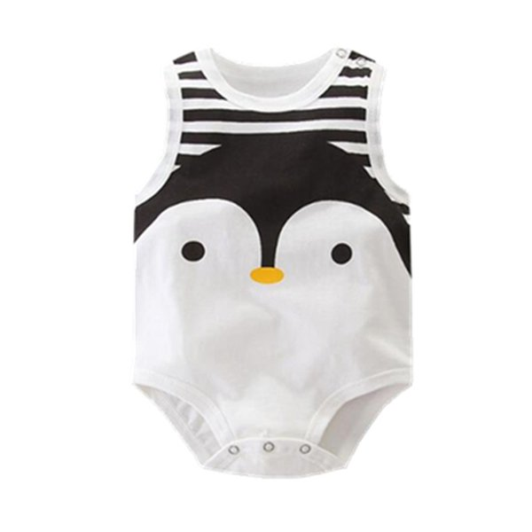 Orangemom summer 2018 sleeveless baby bodysuit cute Penguin style one pieces jumpsuit cheap baby boy clothing kids clothes