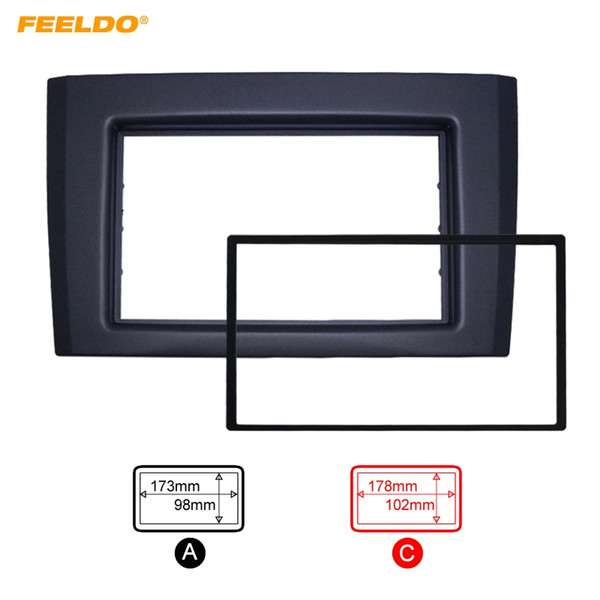 FEELDO Double DIN/2DIN Car Radio Fascia For VOLVO XC90 (2002~2014) Radio DVD Stereo Dash Trim Panel Frame Installation Kit #5254