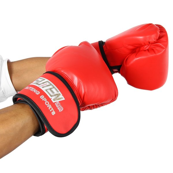 SUTEN 1 Pair PU Leather Boxing Gloves Men Half Finger Sport Muay Thai Gloves Mma Kick Boxing Mittens Training Fighting Sandbag Gloves