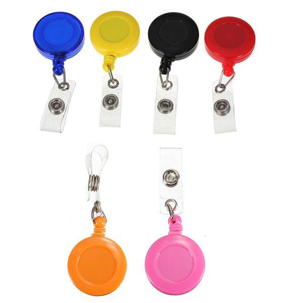 top popular Retractable Reel Badge holder YOYO Clip Snap Button ID Card Key Badge Holder Retractable Reel 20pcs  2021
