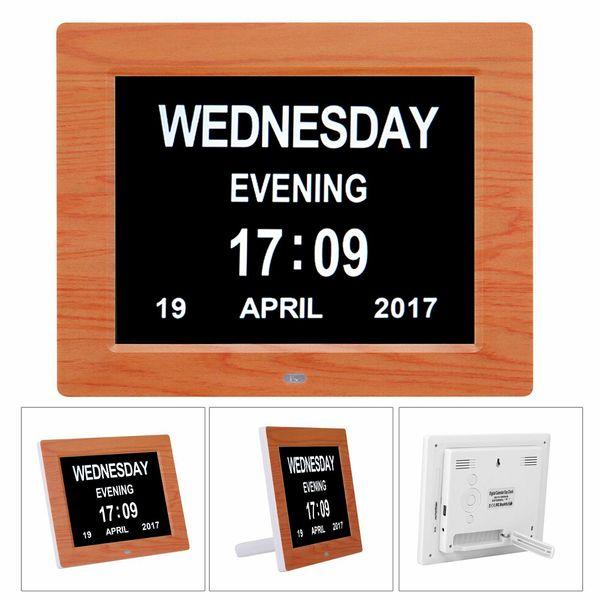 Novo 8 '' LED Demência Digital Calendário Dia / Semana / Mês / Ano Relógio Grande Carta Presentes LCD Display Relógio De Parede Chuveiro Temporizador Da Cozinha