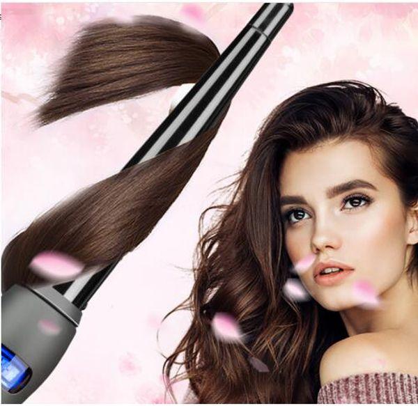 Keramik Styling Werkzeuge Blau LCD Professionelle Haar Lockenstab Digitale Lockenwickler Roller Hair Waver Magie Lockenstab Eisen