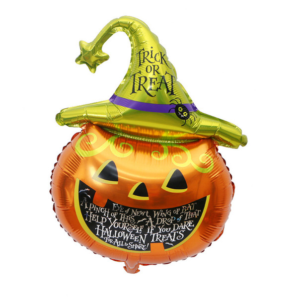 big size kid cartoon party balloon halloween pumpkin hat aluminum balloons decoration Camera Props foil balloon