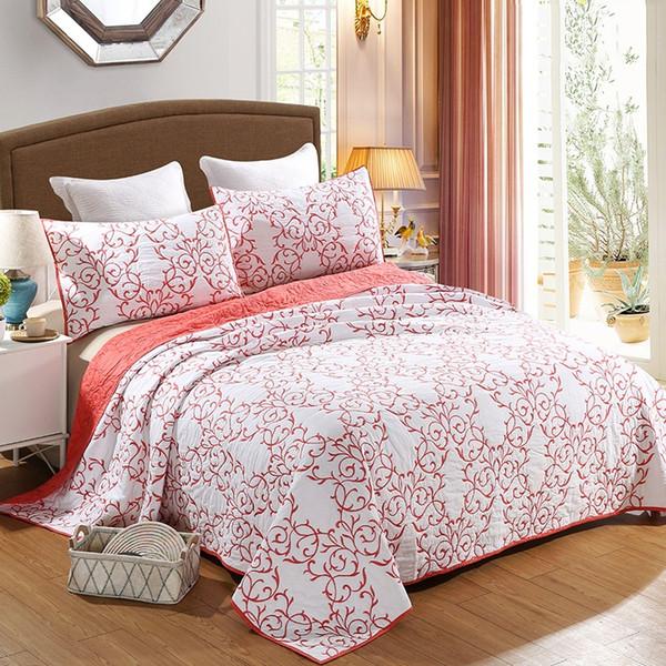 Baumwollbettdecke Quilt Set 3 stücke Bettdecke Chinesischen Stil Gestickte Quilts Qualität Bettbezüge König Königin Größe Steppdecke