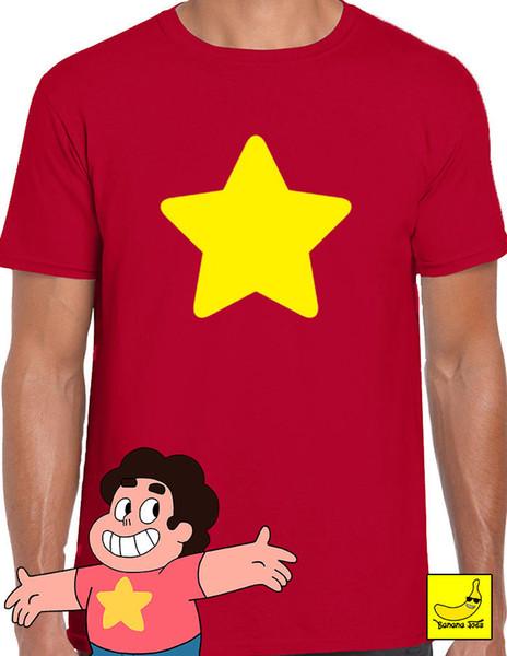 Steven Universe Yellow Star T-Shirt Shield Jap Cartoon Funny Ruby Gem CookieCat T-Shirt Summer Style Men T Shirt