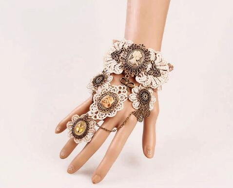 free shipping European and American gothic lace vintage bracelet band ring exaggerated gear watch bracelet fashion classic elegant