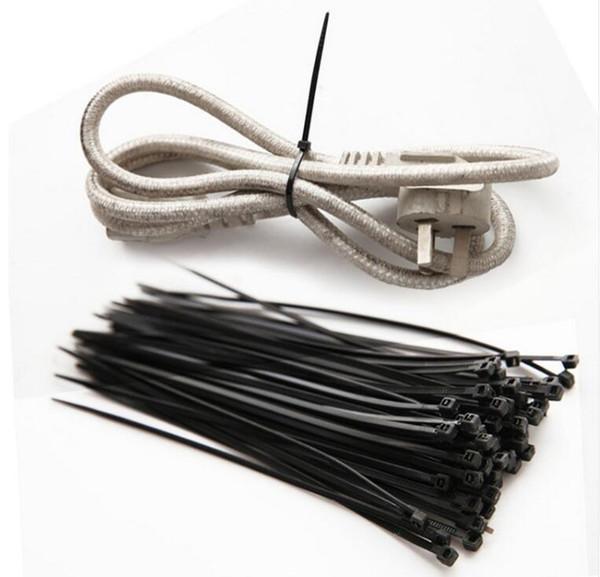 100Pcs/Lot Wire Self-Locking Black White Nylon Plastic Network Cable Wire Zip Tie Cord Strap Plastic Zip Trim Wrap Cable Loop Ties
