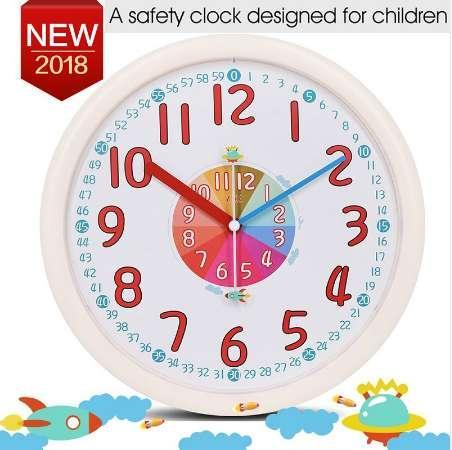 Großhandel 12 Zoll Kid Kunststoff Wanduhr Baby Nursery No Glass Große  Wanduhr Kinderzimmer Uhr Stille Nicht Ticking Analog Quarz Haus Von  Koolhouse, ...