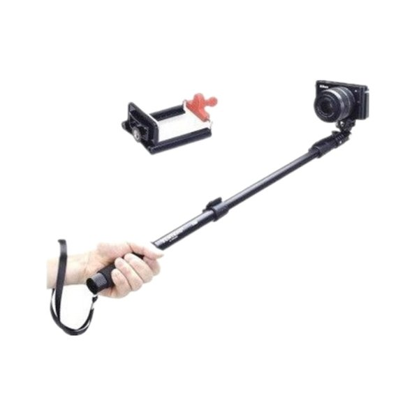 Monopod profesional de gama alta Selfie Stick, para Apple, Android, Gopro, cámaras DLSR, control remoto inalámbrico extraíble Bluetooth (negro)