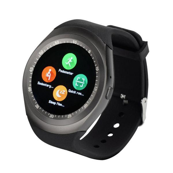 Спорт Y1 SIM-карты смарт-часы мужчины Bluetooth 3.0 MP3 MP4 видео творческий часы синхронизация Notifier вызов напоминание интеллектуальные часы
