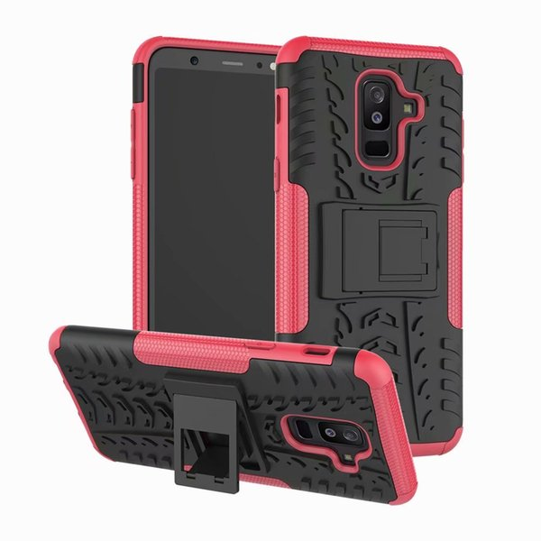 Phone Case For Samsung Galaxy A6 Plus 6.0inch Tough Impact Case Heavy Duty Armor Hybrid Anti-knock Silicon Hard Back Cover With Stand