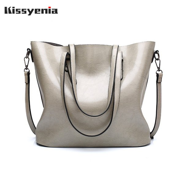bd4d9b93c Kissyenia 2018 Brand Women Handbags Leather Lady Tote Bag Fashion Large  Capacity Messenger Bags Shoulder Bags