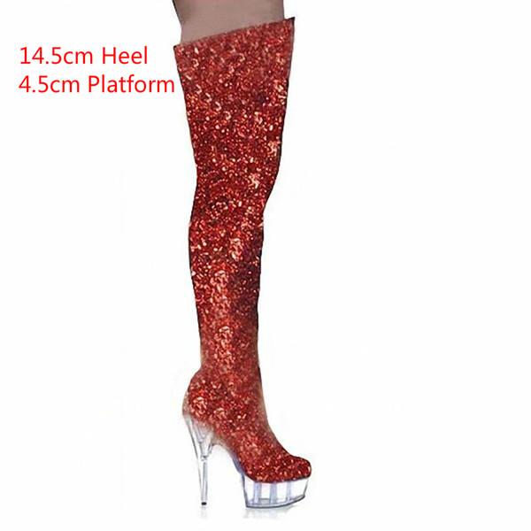 Red 14.5cm Heel