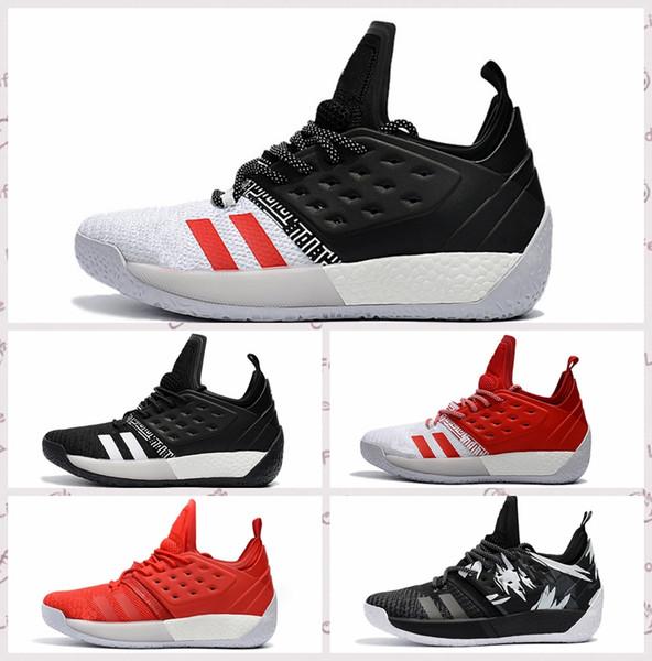 Großhandel Neueste Hochwertige James Harden Vol 2 Basketball Schuhe Schwarz Weiß Rot Männer Härten Vol.2 Sneakers Zum Verkauf Größe 7 11.5 Von