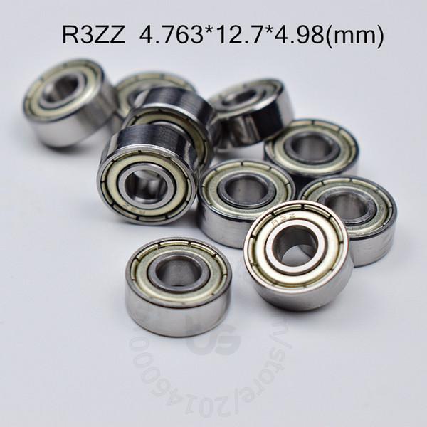 "top popular R3ZZ ABEC-5 bearings metal Sealed Miniature Bearing 3 16 x 1 2 x 0.196"" inch chrome steel bearings R3 R3Z R3ZZ 4.763*12.7*4.98mm 2021"