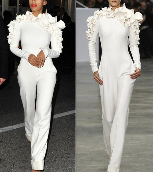 Hot sale Custom Made Special Occasion Wears Fashion Design Evening Jumpsuit Formal Runway Fashion Women's Clothes