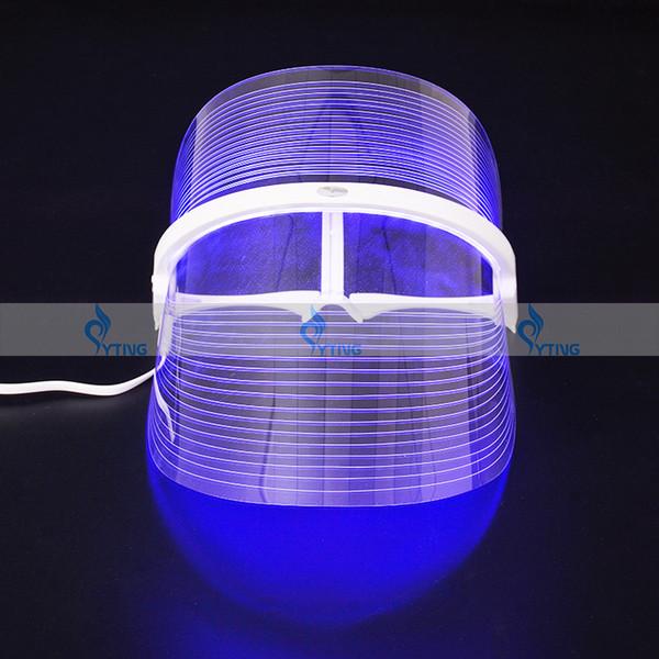 Portátil 3 Cores DIODO EMISSOR de Terapia de Luz Terapia Máscara Facial Terapia Photon Terapia Máquina de beleza Anti Envelhecimento Rejuvenescimento Da Pele Dispositivo de Tratamento de Rugas