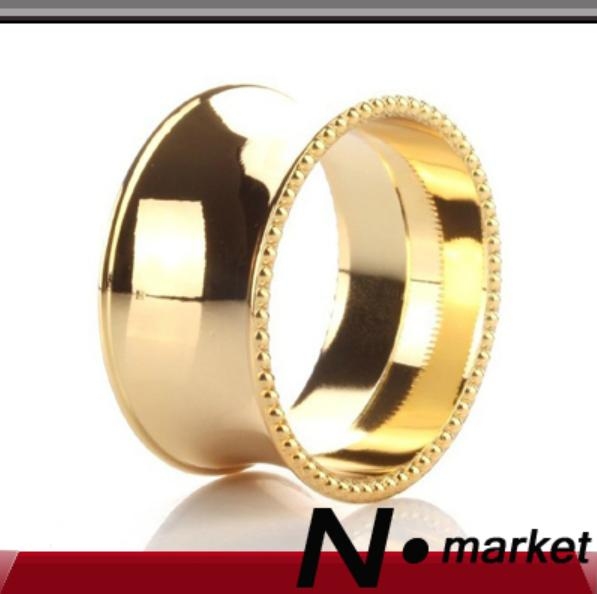 25g Round Factory Direct Sale Alloy Circular Gold Silver Napkin Rings For Weddings High Quality Napkin Holder