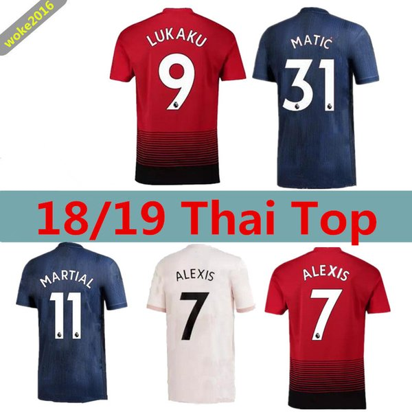 wholesale dealer 6e13e da0fe 2018 2018 2019 Manchester United Jerseys Pink Alexis Lukaku Third Men'S  Home Pogba 10 Rashford Fans Version Of The 3rd Football Shirt From  Woke2016, ...