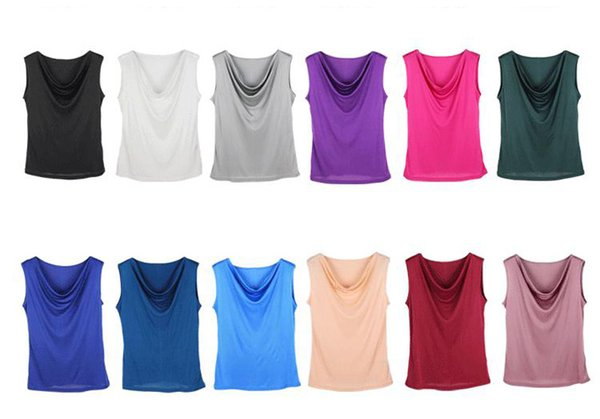 2018 Fashion Summer Woman Sleeveless V Neck Tank top Candy Color 100% Silk Vest Loose Tops T Shirt Render Shirt M L XL XXL