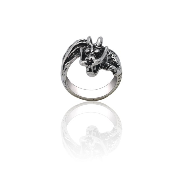 Punk Animal Rings For Women Steampunk Dragon Ring Men Jewelry Adjustable Silver 3D Hip Hop Serpent Rings Unisex Xmas Party Gifts