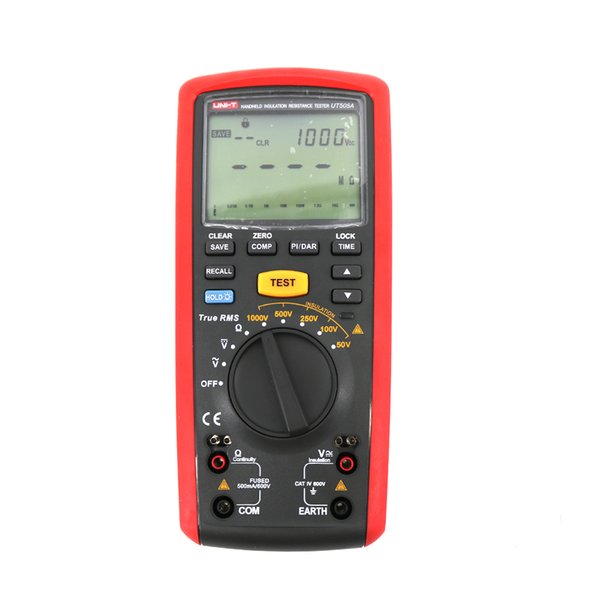 UT505A 1000 V Digital Handheld True RMS Megger Medidor de Resistência de Isolamento Tester Multímetro Ohm Voltímetro UNI-T UT505A Megohmmeter