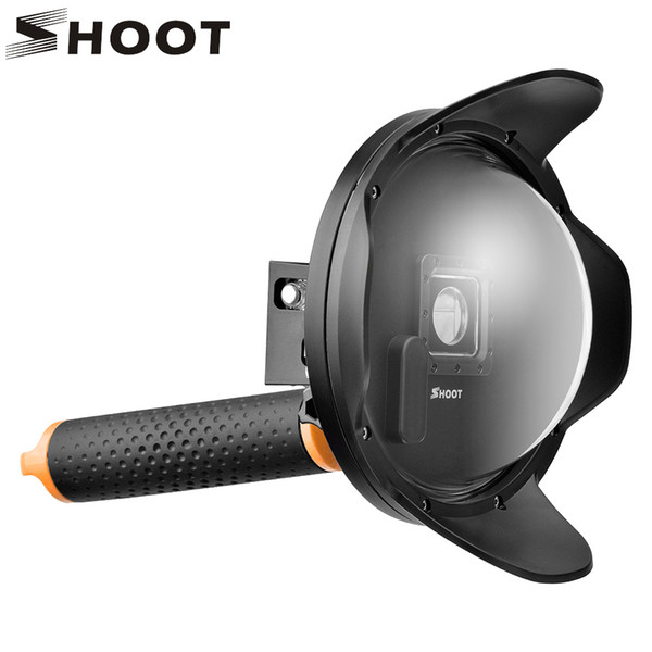 wholesale 2.0 6 inch Dome Port For GoPro HERO 4 3+ Black Silver Action Camera with Float Grip Waterproof Case for GoPro Accessories