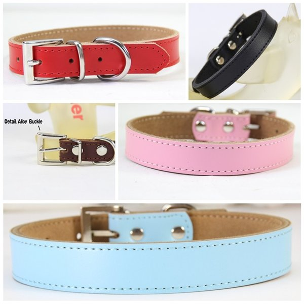 Alloy Metal Buckle Puppy Necklace For Multi Size Dogs Classic Simulation Leather Dog Neck Adjustable Collars Simple Style Colorful 9 6cl4 Z