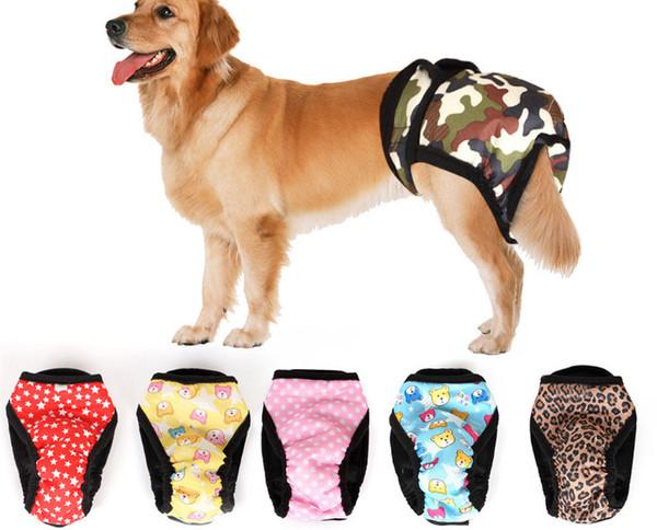 Livraison gratuite chiens chats mode mignon physiologique sous-vêtements costume chiot chien pantalons de santé de chien fournitures doggy shorts costumes de chien de compagnie
