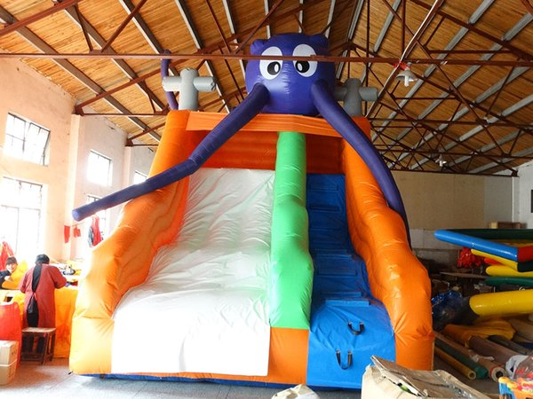 2018 New design Customizable marine theme inflatable slide,inflatable water slide for sale