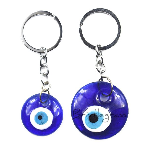 BRISTLEGRASS Turkish Blue Evil Eye Keychain Car Key Chains Ring Holder Amulets Lucky Charms Hanging Pendants Blessing Protection