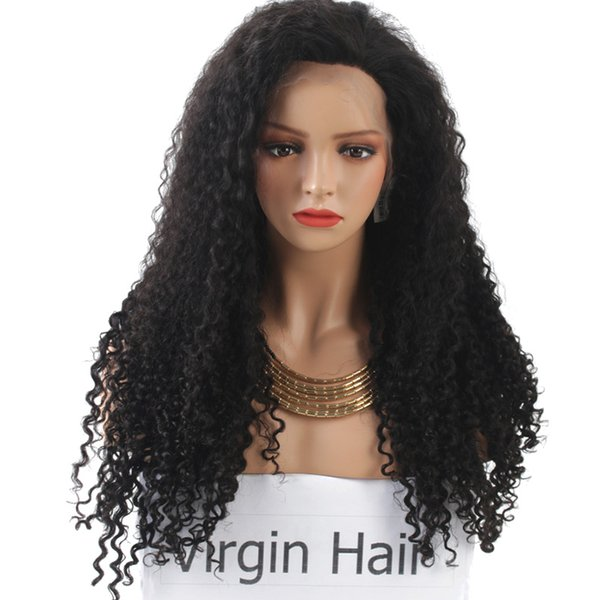 180% Density Tight Curly Lace Front Human Hair Wigs For Black Wowen Curly Lace Front Wigs Brazilian Virgin Hair Free Shipping