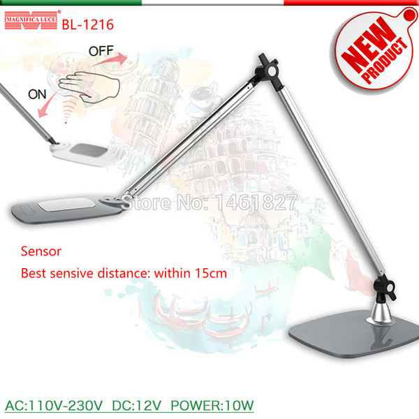 Gesture Sensor Switch, Color Temperature Stepless Dimming Desk lamp LED Desk Lamps office table lamp student reading SL-TL318