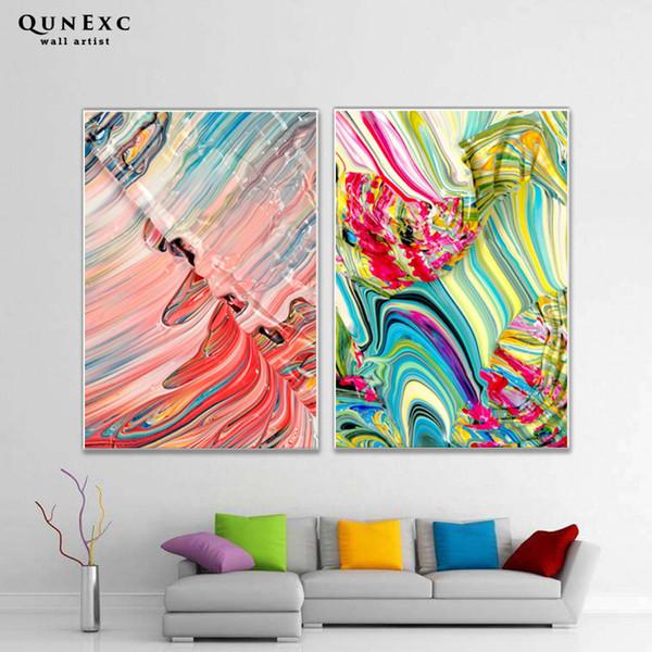 Moderne Abstrakte Ölgemälde Wandkunst Leinwand Poster Und Print Leinwand  Malerei Dekorative Bild Für Wohnzimmer Home Decor