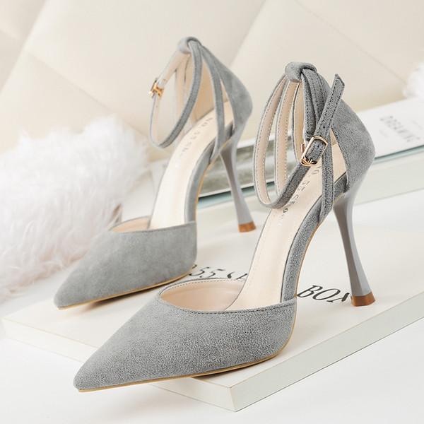 Schnalle Clubwear High Heels Lady Kleid Schuhe Frauen Heels Pumps Festival Party Hochzeit Schuhe formale Pumps Stiletto Heels Sandalen GWS517