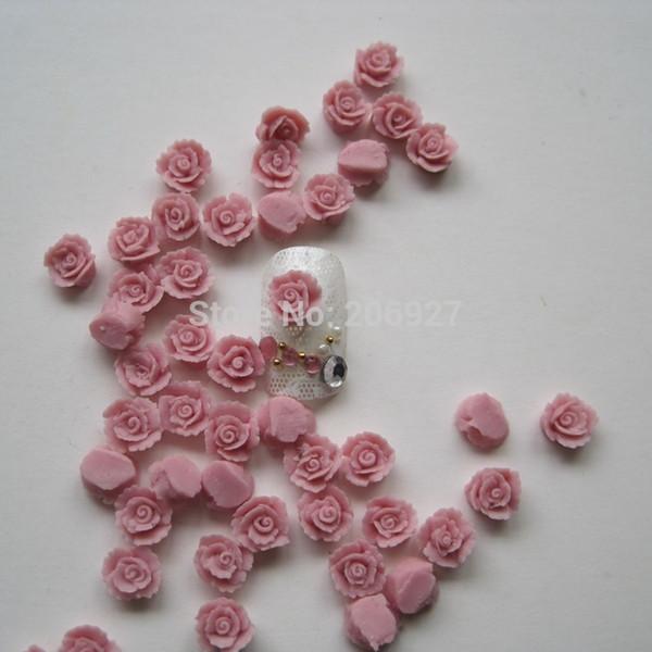 CF4-3 30 pcs Bonito Cerâmica Rosa Flor Forma Nail Art Decoração Outlooking
