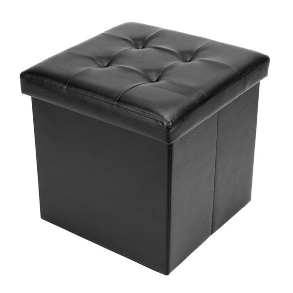 Compre Cubo Plegable Otomano Puf Caja De Almacenamiento Reposapiés ...