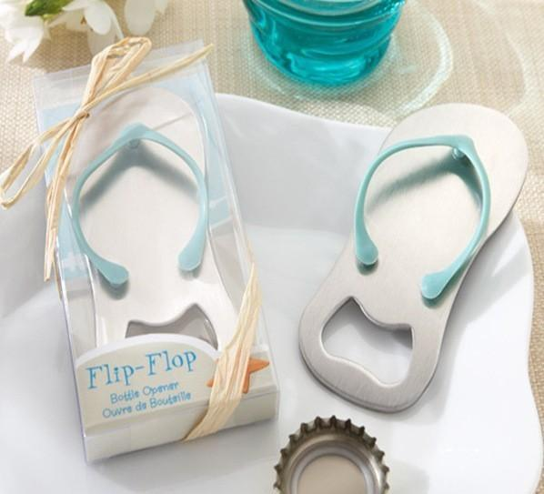 250PCS/LOT will Pop the Top flip flop bottle opener wedding bridal shower favor guest gift for men Free shipping