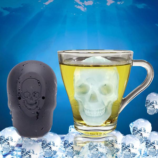 Cubo de Gelo grande Cubo de Gelo Silicone Bandeja Moldes de Uísque Cocktail Bola de Gelo Bar Em Casa Ferramenta de Festa de Halloween