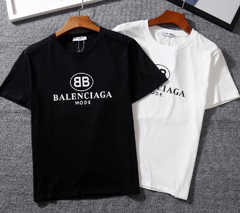 22 цвета бренда BB MODE Письмо с принтом повседневная футболка с круглым вырезом парой Мода с коротким рукавом из чистого хлопка Футболка топ Тис хип-хоп стиль