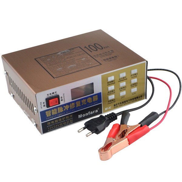 New 12V/24V Universal Lead-acid Battery Charger Lithium Battery Charger For Car Vehicle Motorcycle Truck