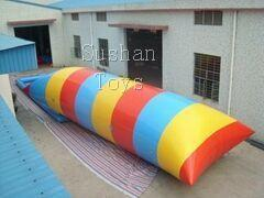 Free Shipping Sushan Toy 8x3m Inflatable Water Blob Water Trampoline Bouncing Pillows Floating Beds Inflatable Jumping Pillow Send