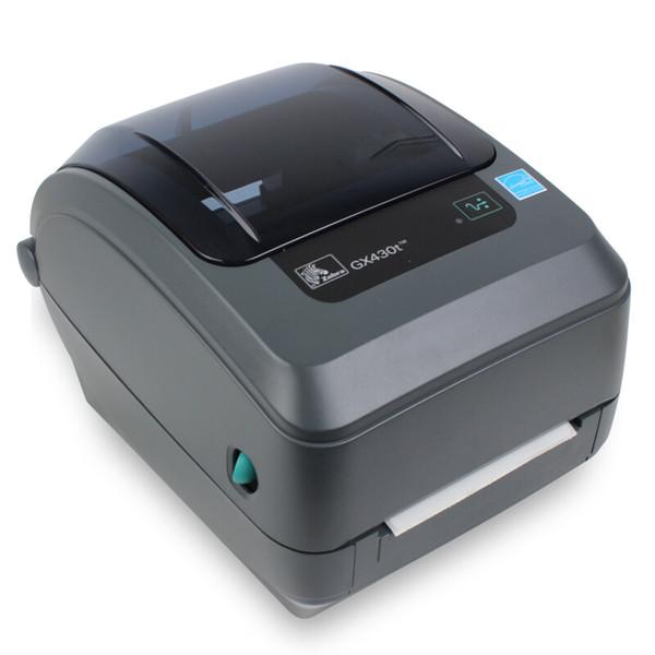 Original zebra GX430t desktop impressora de código de barras impressora 305dpi etiqueta de transferência térmica 300 dpi tags Jóias frete grátis