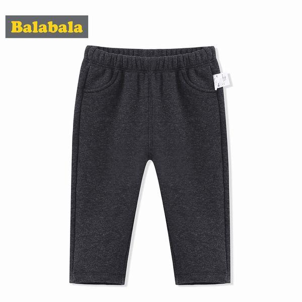 Balabala Baby Boys Pants Otoño Invierno Nuevos Niños Baby Plus Terciopelo Warm Infant Boy Pantalones Fake Pocket Fashion Child Pants