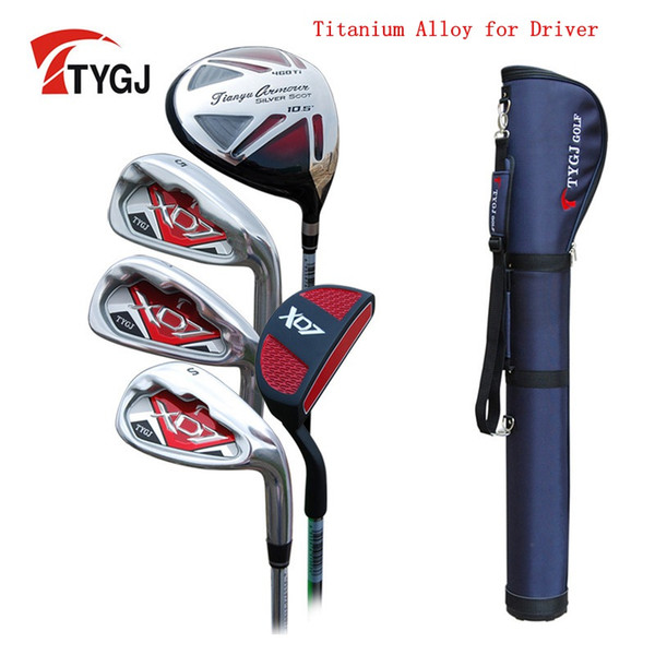 Brand TTYGJ 5-pieces Half Golf Clubs Set with Bag Leaner Beginner golf clubs branded irons set